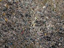 ekologisk miljöfotoförorening för kris Flyg- foto för bästa sikt från flygsurret av den stora avskrädehögen Avskrädehög i avfallf royaltyfri bild