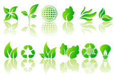 ekologisk vektor för set symboler Arkivfoto