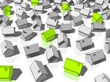 ekologiska gröna hus Arkivfoto