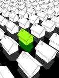 ekologiska gröna hus Royaltyfria Bilder