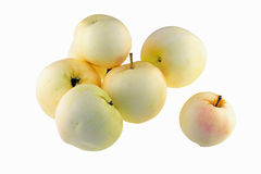 Ekologiska gula äpplen Arkivbilder