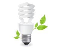 ekologiska illustrationlightbulbs Fotografering för Bildbyråer