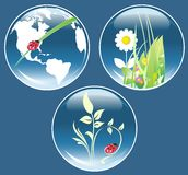 ekologiska set symboler Royaltyfria Bilder
