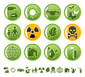 ekologiska symboler Royaltyfri Fotografi