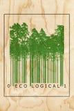 Ekologiskt begrepp för naturproduktstångkod royaltyfri illustrationer