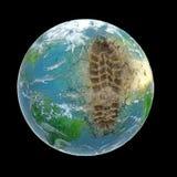 ekologiskt fotspår stock illustrationer