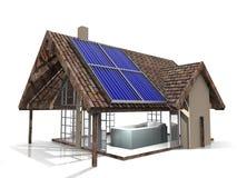 ekologiskt hus Arkivfoto