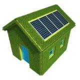 Ekologiskt hus royaltyfri illustrationer