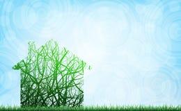 Ekologiskt hus vektor illustrationer