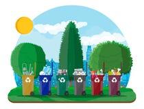 Ekologiskt livsstilbegrepp royaltyfri illustrationer