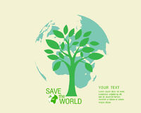 Ekologiskt och spara världsgräsplanen Royaltyfri Fotografi