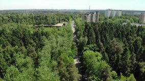 Ekologiskt rent Zelenograd administrativt område av Moskva i Ryssland lager videofilmer