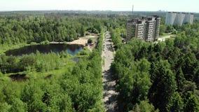 Ekologiskt rent Zelenograd administrativt område av Moskva i Ryssland stock video