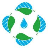 ekologiskt symbol royaltyfri illustrationer