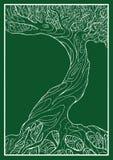 Ekologiskt symbol med trädet Arkivbilder