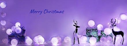 ekologiskt trä för julgarneringar Runda elektriska julljus Royaltyfri Fotografi