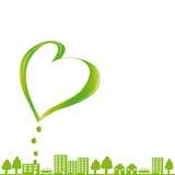Ekologiskt tyg royaltyfri illustrationer