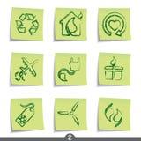 ekologistolpeserie vektor illustrationer