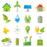 ekologisymboler vektor illustrationer
