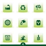 ekologisymbolsserie Fotografering för Bildbyråer