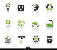 ekologisymbolsserie Arkivbilder