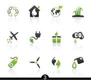 ekologisymbolsserie Arkivfoton