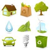 ekologisymbolsset Arkivfoto