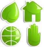 ekologisymbolsset royaltyfri illustrationer