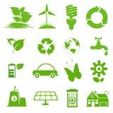 Ekologisymbolsuppsättning 1 royaltyfri illustrationer