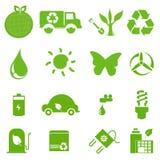 Ekologisymbolsuppsättning 2 vektor illustrationer