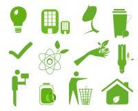 Ekologisymbolsuppsättning 4 royaltyfri illustrationer