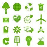 Ekologisymbolsuppsättning 3 vektor illustrationer