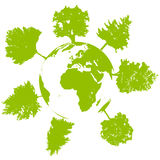 ekologitreevärld Royaltyfri Bild