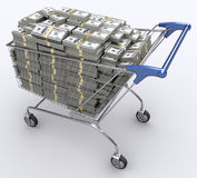 ekonomi spenderar Royaltyfria Bilder