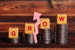 Ekonomi växer arkivfoto