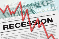 ekonomiczna recesja royalty ilustracja