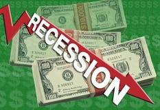 ekonomiczna recesja ilustracja wektor
