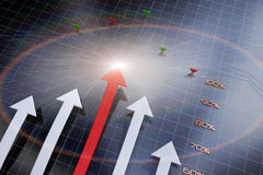 Ekonomiczna strzała ilustracja wektor