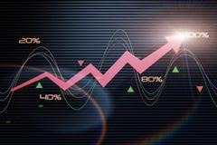 Ekonomiczna strzała Zdjęcie Stock