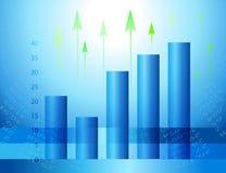 ekonomiczny abstrakcjonistyczny tło Zdjęcia Stock