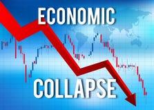 Ekonomiczny zawalenie się kryzys finansowy Obrazy Stock
