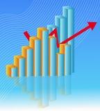 Ekonomidiagram royaltyfri illustrationer