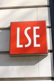 ekonomii London szkoły znak Zdjęcia Royalty Free