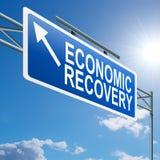ekonomisk återhämtningtecken Royaltyfri Bild