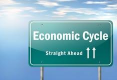 Ekonomisk cirkulering för huvudvägvägvisare vektor illustrationer