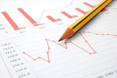 ekonomisk graf royaltyfri bild