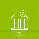 Ekonomisk institution med ett mynt Arkivbilder
