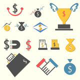 Ekonomisk logo Arkivfoto
