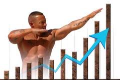 ekonomisk marknadsmaterielstryka Arkivbild