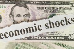 ekonomisk shock arkivfoto